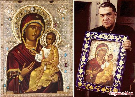 Картинки по запросу Икона Божией Матери: Иверская Монреальская, Мироточивая.