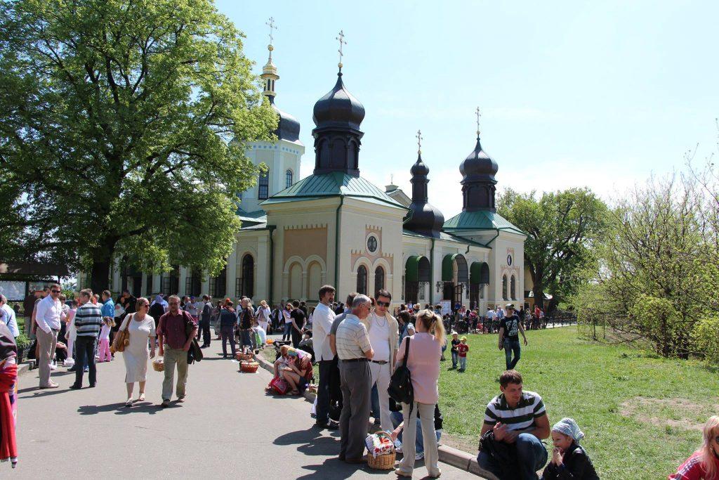 Свято-Троицкий Ионинский монастырь г. Киева, где храниттся память икона Божией Матери Троеручица