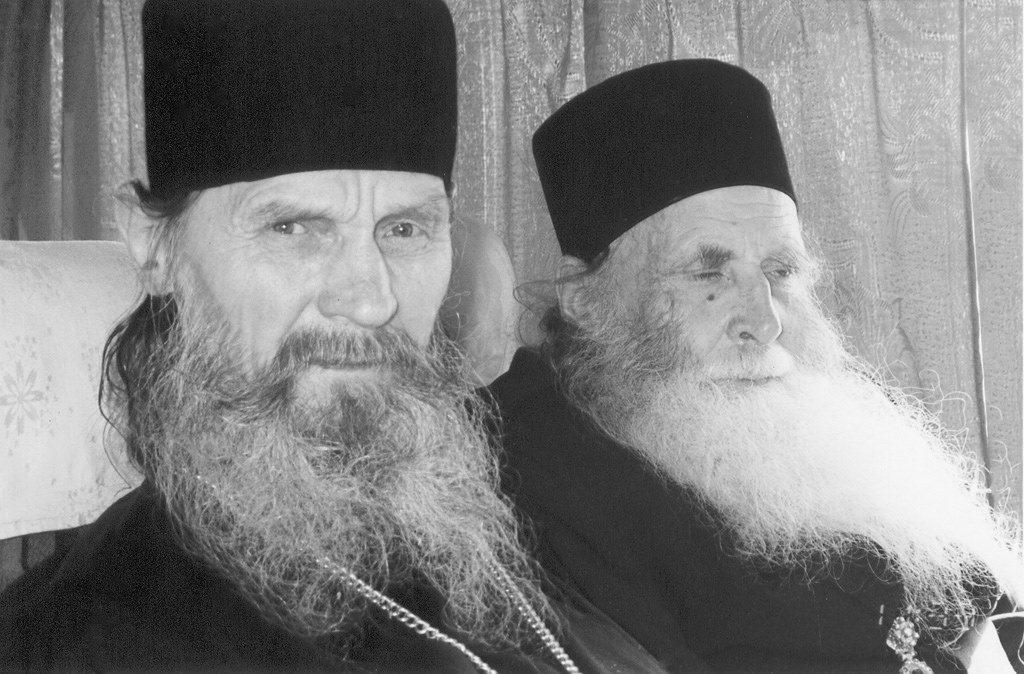 Два старца.  Отец  Кирилл (Соколов) с архимандритом Ионой (Игнатенко)