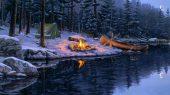Костер на снегу