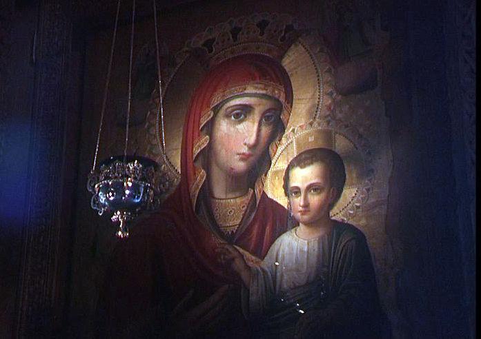55 пуль на иконе Пресвятой Богородицы