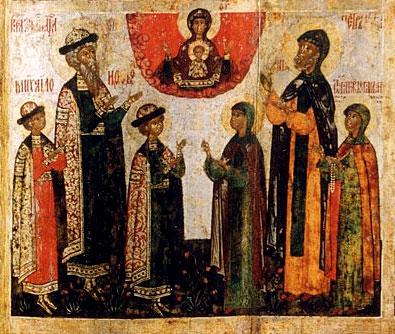 Князья Константин, Михаил и Феодор Муромские