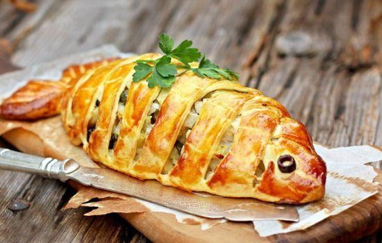 Рыбный пирог для тещи