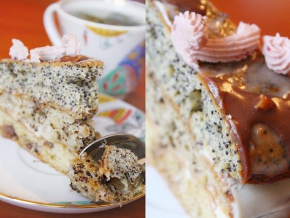 Торт с изюмом маком орехами