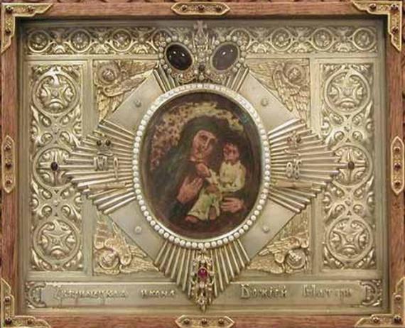 Древний монастырь св. Михаила на Зверинецкой горе в Киеве. Икона Богородицы