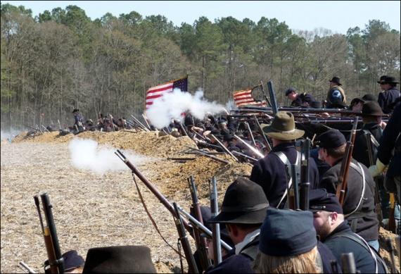 Современная реконструкция битвы при Бентонвилле
